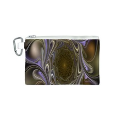 Fractal Waves Whirls Modern Canvas Cosmetic Bag (s)