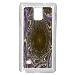 Fractal Waves Whirls Modern Samsung Galaxy Note 4 Case (white)