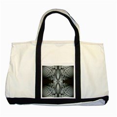 Fractal Blue Lace Texture Pattern Two Tone Tote Bag