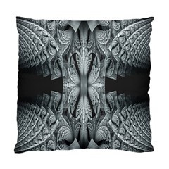 Fractal Blue Lace Texture Pattern Standard Cushion Case (one Side)