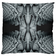 Fractal Blue Lace Texture Pattern Large Cushion Case (one Side)