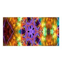 Kaleidoscope Pattern Ornament Satin Shawl