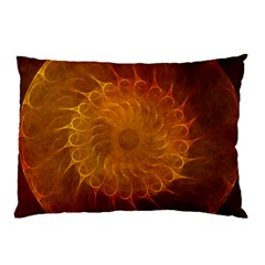 Orange Warm Hues Fractal Chaos Pillow Case (two Sides)
