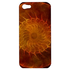 Orange Warm Hues Fractal Chaos Apple Iphone 5 Hardshell Case