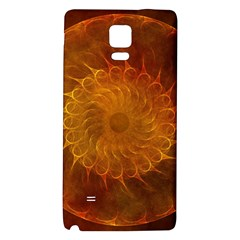 Orange Warm Hues Fractal Chaos Galaxy Note 4 Back Case