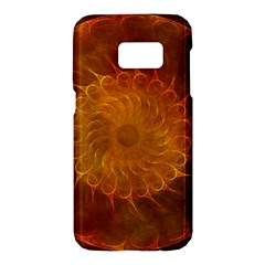 Orange Warm Hues Fractal Chaos Samsung Galaxy S7 Hardshell Case