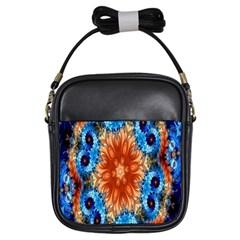 Alchemy Kaleidoscope Pattern Girls Sling Bags