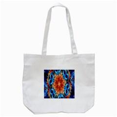 Alchemy Kaleidoscope Pattern Tote Bag (white)