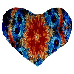 Alchemy Kaleidoscope Pattern Large 19  Premium Flano Heart Shape Cushions