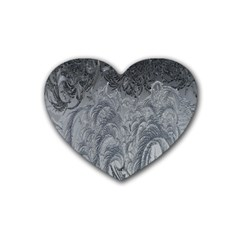 Abstract Art Decoration Design Heart Coaster (4 Pack)