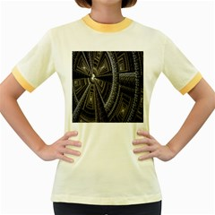 Fractal Circle Circular Geometry Women s Fitted Ringer T Shirts