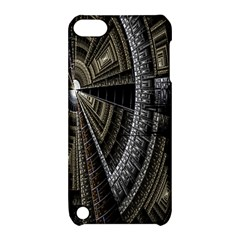 Fractal Circle Circular Geometry Apple Ipod Touch 5 Hardshell Case With Stand