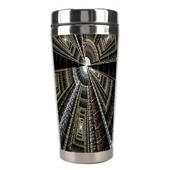 Fractal Circle Circular Geometry Stainless Steel Travel Tumblers