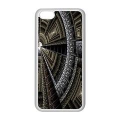 Fractal Circle Circular Geometry Apple Iphone 5c Seamless Case (white)