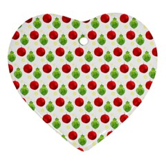 Watercolor Ornaments Heart Ornament (two Sides)