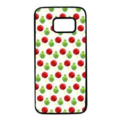 Watercolor Ornaments Samsung Galaxy S7 Black Seamless Case