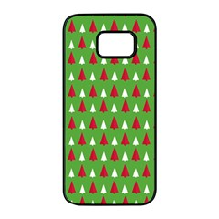 Christmas Tree Samsung Galaxy S7 Edge Black Seamless Case