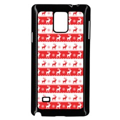 Knitted Red White Reindeers Samsung Galaxy Note 4 Case (black)