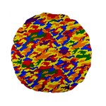 Homouflage Gay Stealth Camouflage Standard 15  Premium Flano Round Cushions Back