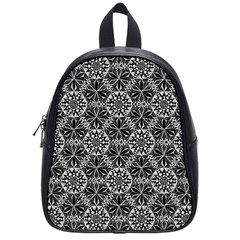 Crystals Pattern Black White School Bag (small)