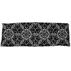 Crystals Pattern Black White Body Pillow Case (dakimakura)