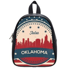 Tulsa Oklahoma Retro Skyline School Bag (small)