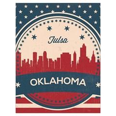 Tulsa Oklahoma Retro Skyline Drawstring Bag (large)