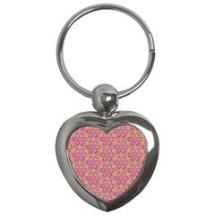 Kaledoscope Pattern  Key Chains (heart)