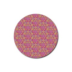 Kaledoscope Pattern  Rubber Coaster (round)