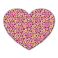 Kaledoscope Pattern  Heart Mousepads