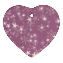 Blurry Stars Lilac Ornament (heart)