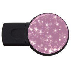 Blurry Stars Lilac Usb Flash Drive Round (4 Gb)