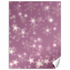 Blurry Stars Lilac Canvas 12  X 16