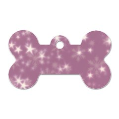 Blurry Stars Lilac Dog Tag Bone (one Side)