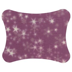 Blurry Stars Lilac Jigsaw Puzzle Photo Stand (bow)