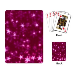 Blurry Stars Pink Playing Card