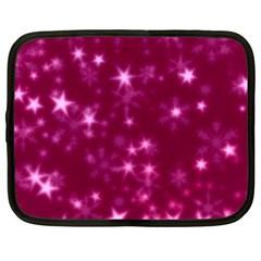 Blurry Stars Pink Netbook Case (xxl)