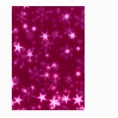 Blurry Stars Pink Large Garden Flag (two Sides)