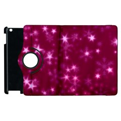 Blurry Stars Pink Apple Ipad 3/4 Flip 360 Case