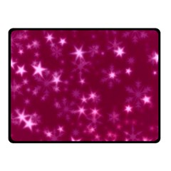 Blurry Stars Pink Double Sided Fleece Blanket (small)