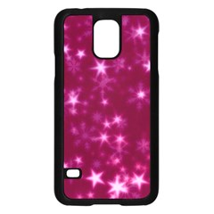 Blurry Stars Pink Samsung Galaxy S5 Case (black)