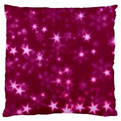 Blurry Stars Pink Standard Flano Cushion Case (two Sides)