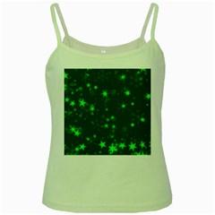 Blurry Stars Green Green Spaghetti Tank