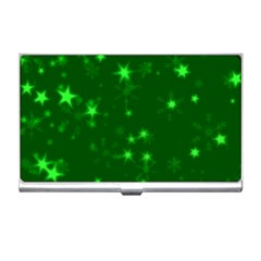 Blurry Stars Green Business Card Holders