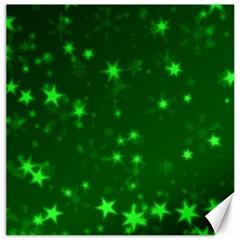 Blurry Stars Green Canvas 12  X 12
