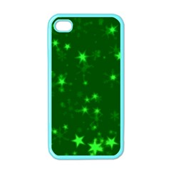 Blurry Stars Green Apple Iphone 4 Case (color)
