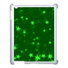 Blurry Stars Green Apple Ipad 3/4 Case (white)