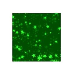 Blurry Stars Green Satin Bandana Scarf