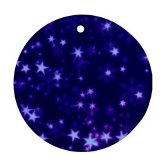 Blurry Stars Blue Ornament (round)