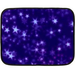 Blurry Stars Blue Double Sided Fleece Blanket (mini)